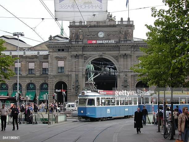 Zuerich Bahnhofstrassedie Zuercher Strassenbahn