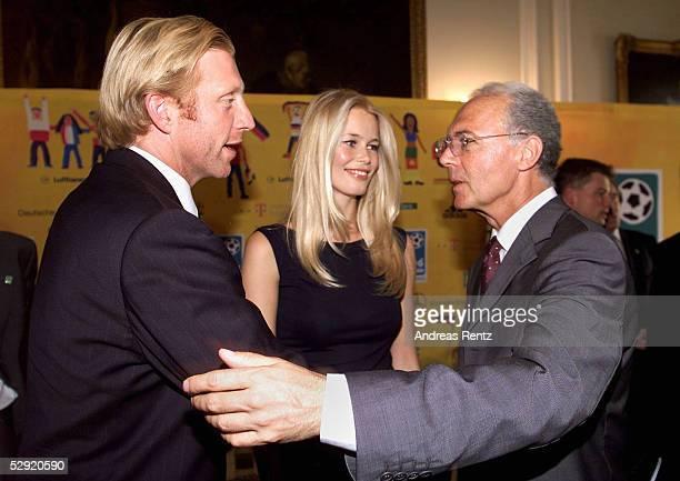 WM VERGABE 2006 Zuerich Boris BECKER Claudia SCHIFFER Franz BECKENBAUER