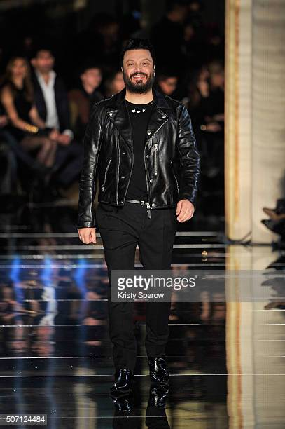Zuhair Murad acknowledges the audience during the Zuhair Murad Haute Couture Spring Summer 2016 show as part of Paris Fashion Week on January 27 2016...