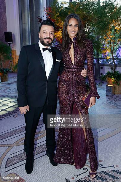 Zuhair Murad and Cindy Bruna attend the Soiree Haute Couture as part of Paris Fashion Week at Le Petit Palais on July 6 2016 in Paris France