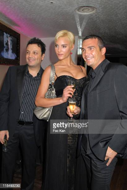 Zuhair Murad Sylvia and Richard Virenque attend the Zuhair Murad Paris Haute Couture Spring/Summer 2008 After Party at the Club de L'Etoile on...