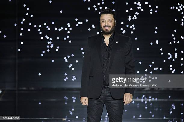 Zuhair Murad walks the runway during the Zuhair Murad show as part of Paris Fashion Week Haute Couture Fall/Winter 2015/2016 on July 9 2015 in Paris...