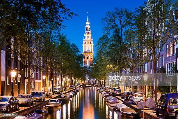 Zuiderkerk church and Groenburgwal canal