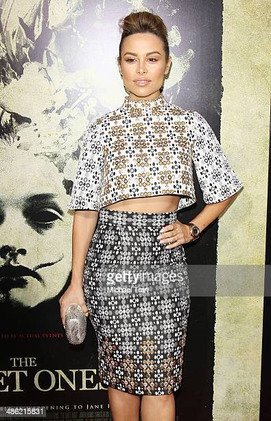 Zulay Henao arrives at the Los Angeles Premiere of The Quiet Ones held at The Theatre at Ace Hotel on April 22 2014 in Los Angeles California