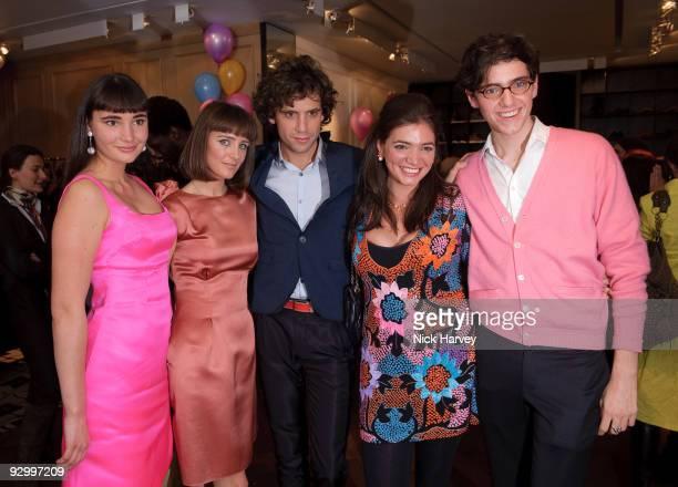 Zuleika Penniman, Yasmine Penniman, singer Mika Penniman, Paloma Penniman and Fortune Penniman attend the Lanvin Party to celebrate the release of...