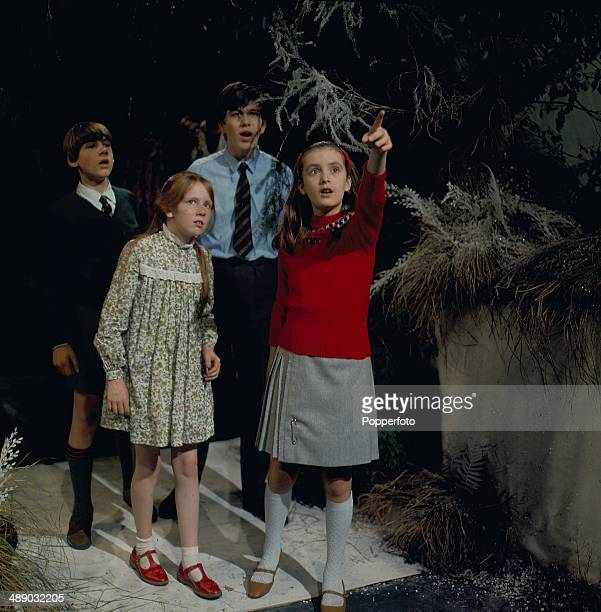 1967 Zuleika Robson Liz Crowther Paul Waller and Edward McMurray in a scene from the 1967 television production of 'The Lion The Witch and The...