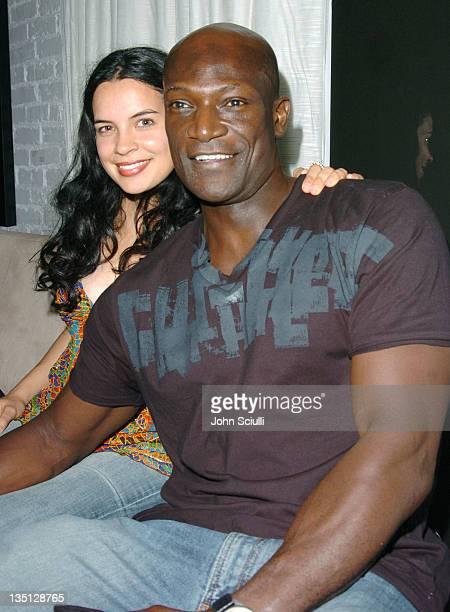 Zuleikha Robinson and Peter Mensah at the Motorola Late Night Lounge at the Toronto Film Festival