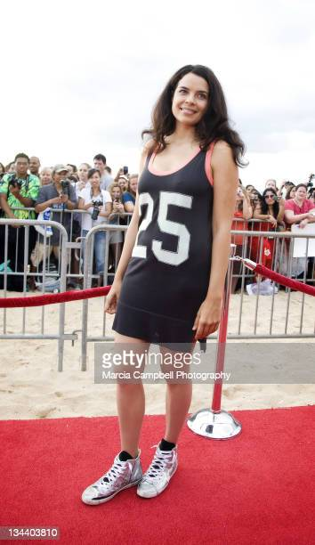 Zuleikha Robinson attends the 'Lost' screening and premiere party at Wolfgang's Steakhouse on January 30 2010 in Honolulu Hawaii