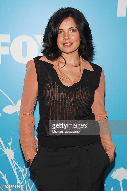 Zuleikha Robinson during The 2007/2008 Fox Upfronts Arrivals at Wollman Rink Central Park in New York City New York United States