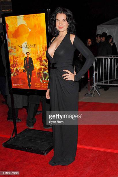 Zuleikha Robinson during 'The Namesake' New York City Premiere Red Carpet at Chelsea West Cinemas in New York City New York United States