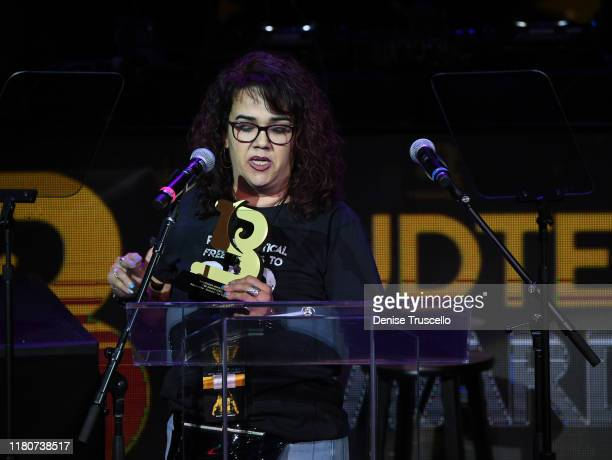 Zulema Lino from Essence DispensaryLas Vegas NV wins the CBD Award at the First Budtender Awards at Light Nightclub at Mandalay Bay Hotel and Casino...