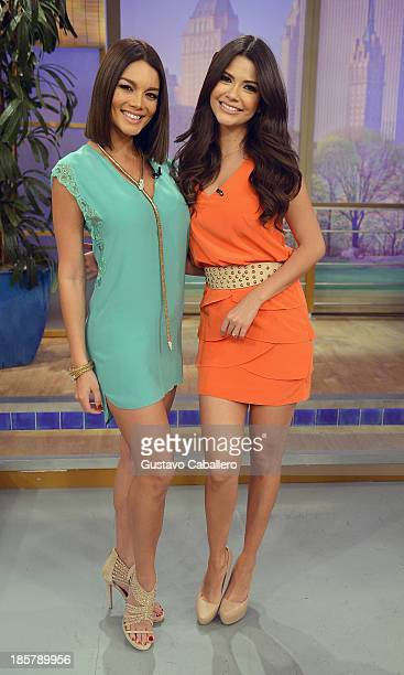 Zuleyka Rivera and Ana Patricia Gonzalez is seen on the set of Despierta America at Univision Headquarters on October 24 2013 in Miami Florida