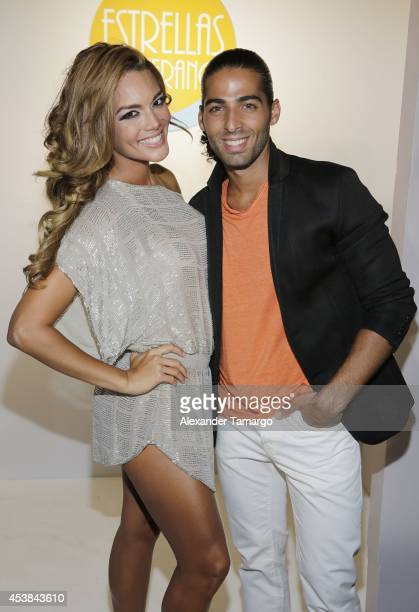 Zuleyka Rivera and Jason Canela attend the 'Estrellas de Verano' the TV Y Novelas Event at The Bath Club on August 19 2014 in Miami Florida