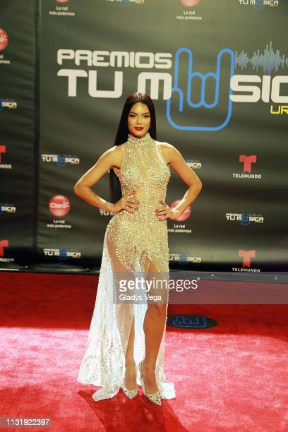Zuleyka Rivera arrives to Premio Tu Musica Urbano at Coliseo Jose M Agrelot on March 21 2019 in San Juan Puerto Rico