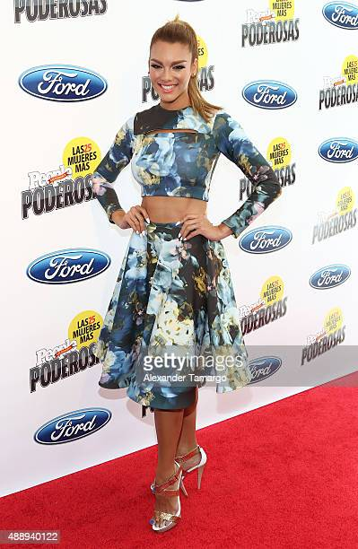 Zuleyka Rivera attends Las 25 Mujeres Mas Poderosas luncheon hosted by People En Espanol at Moore Elastika on September 18 2015 in Miami Florida