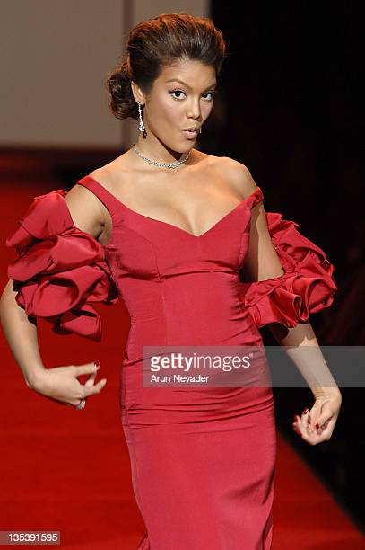 Zuleyka Rivera Mendoza Miss Universe wearing Gustavo Cidile during Heart Truth Red Dress Fall 2007