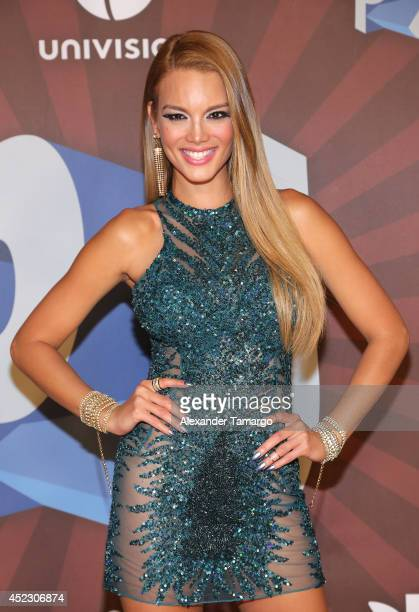 Zuleyka Rivera performs onstage during the Premios Juventud 2014 at The BankUnited Center on July 17 2014 in Coral Gables Florida