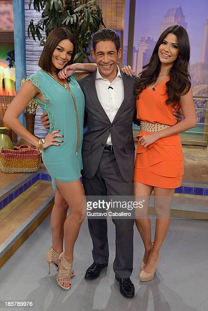 Zuleyka RiveraJohnny Lozada Ana Patricia Gonzalez is seen on the set of Despierta America at Univision Headquarters on October 24 2013 in Miami...