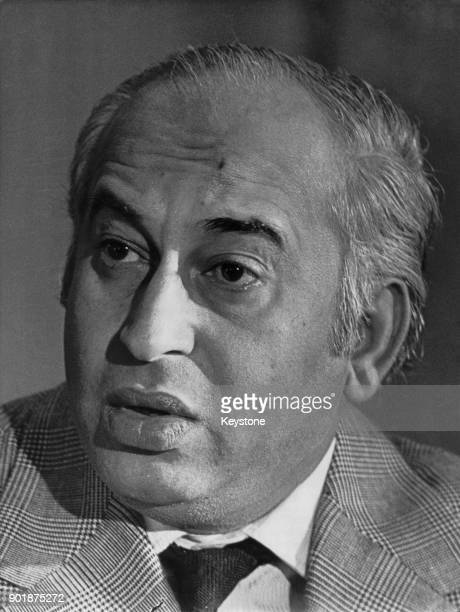 Zulfikar Ali Bhutto the President of Pakistan during a press conference at the Hotel George V in Paris France 27th July 1973