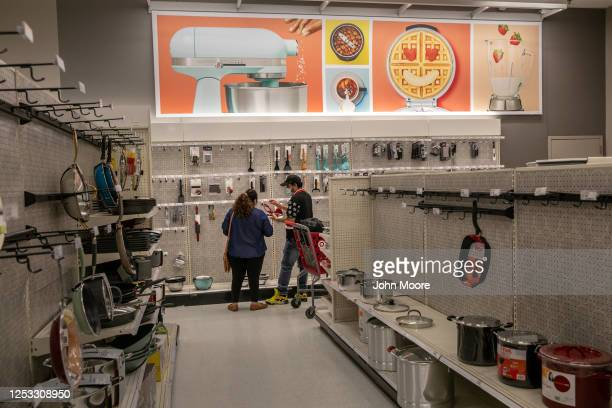 Zully and Marvin shop for home appliances at Target on May 20 2020 in Stamford Connecticut The Guatemalan immigrants fell sick to Covid19 in March...