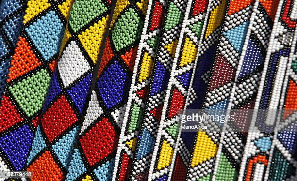 zulu beadwork from south africa - bead stock pictures, royalty-free photos & images
