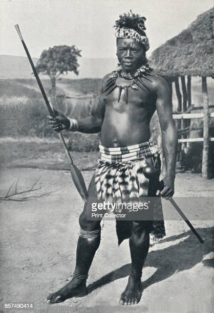 A Zulu chief 1902 From The Living Races of Mankind Vol I [Hutchinson Co London 1902] Artist Unknown