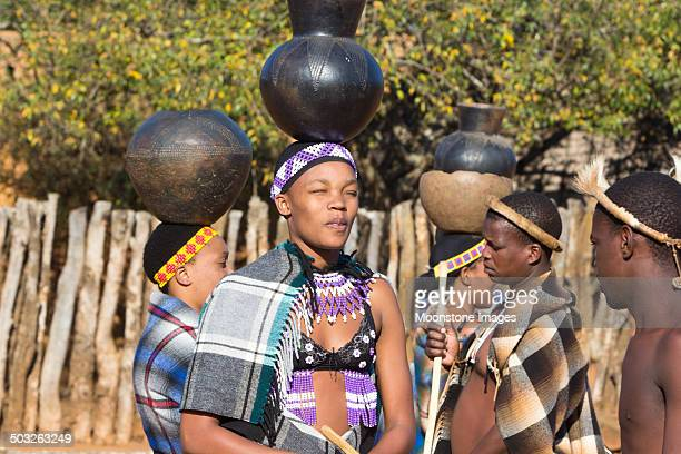 zulu people in kwazulu-natal, south africa - zulu women stock pictures, royalty-free photos & images