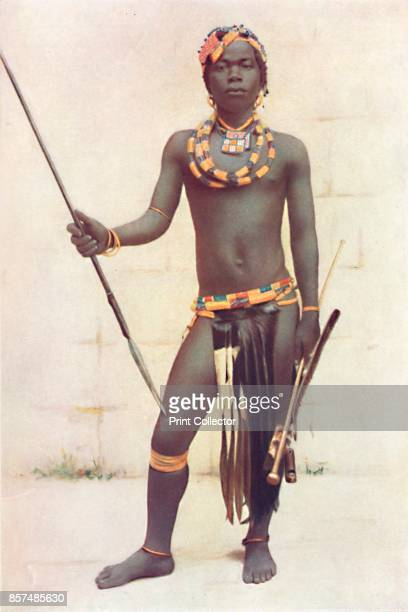 A Zulu warrior 1912 From The Living Races of Mankind Vol II [Hutchinson Co London 1912] Artist Unknown