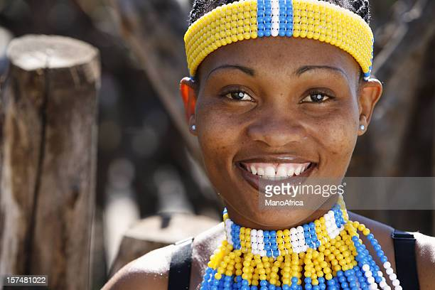 zulu woman portrait - zulu women stock pictures, royalty-free photos & images