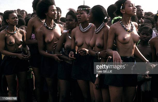 Zulu women during the King's Shaka day celebrations at Nongoma in South Africa in 1996