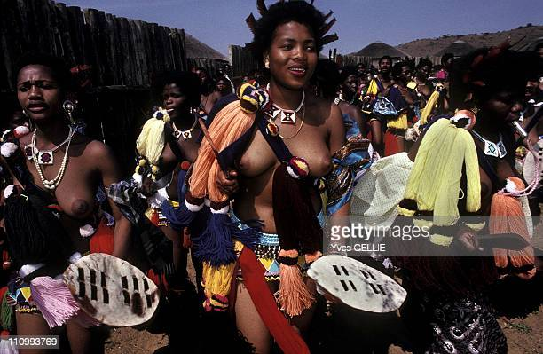 Zulu women during the King's Shaka day celebrations at Nongoma in South Africa in 1996.