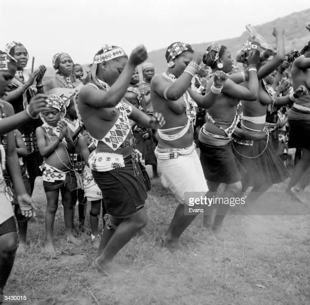Zulu women perform a wedding dance in Zululand, KwaZulu-Natal.