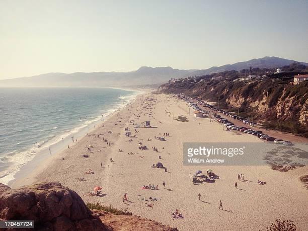 zuma beach at sunset malibu, ca - malibu stock pictures, royalty-free photos & images