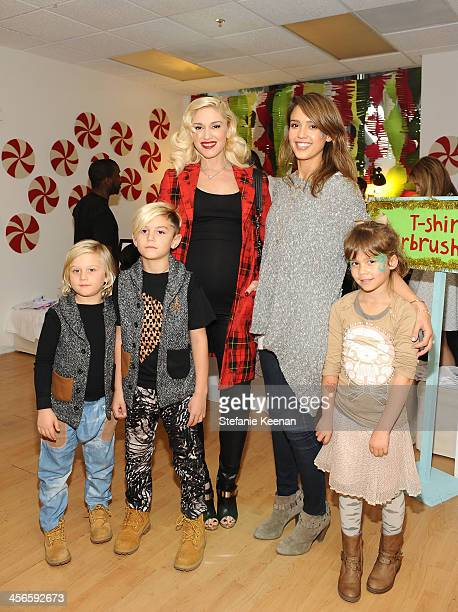 Zuma Nesta Rossdale Kingston Rossdale Gwen Stefani Jessica Alba and Honor Marie Warren attend the Third Annual Baby2Baby Holiday Party presented by...