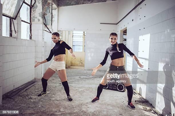 Zumba dancing team