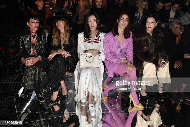 Zumi Ro Lou Doillon Ni Ni Miriam Leone and St VIncent attend the Gucci show during Milan Fashion Week Autumn/Winter 2019/20 on February 20 2019 in...