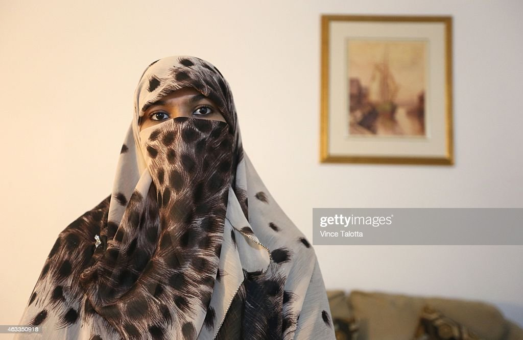 Zunera Ishaq, woman who launched the legal challenge against Ottawa's niqab ban at citizenship oath-taking ceremony poses for pictures in her home.