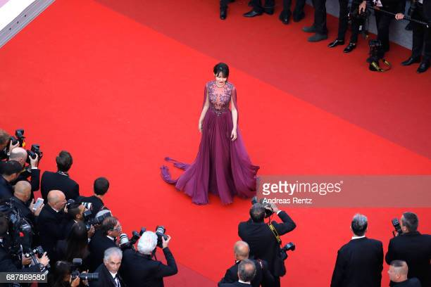 Zuo An Xiao attends the The Beguiled screening during the 70th annual Cannes Film Festival at Palais des Festivals on May 24 2017 in Cannes France