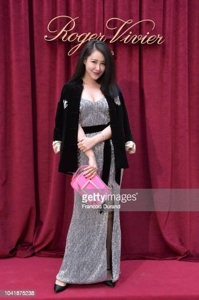 Zuo Anxiao attends the Roger Vivier Presentation Spring/Summer 2019 during Paris Fashion Week on September 27 2018 in Paris France