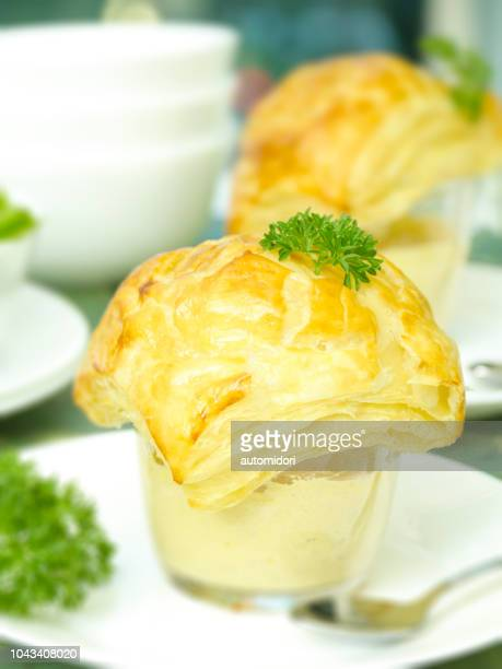 zuppa (corn) soup in a cup - savoury food stock photos and pictures