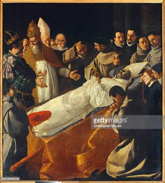 Zurbaran Francisco De Saint Bonaventure's Body Lying in State Paris Louvre Museum