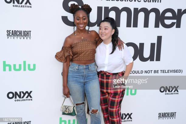 """Zuri Adele and Sherry Cola attends a Cinespia Special Screening Of Fox Searchlight And Hulu's """"Summer Of Soul"""" With Questlove at The Greek Theatre on..."""