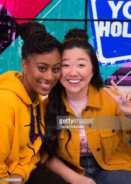 Zuri Adele and Sherry Cola visits the Young Hollywood Studio on March 14 2019 in Los Angeles California