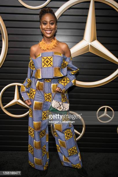 Zuri Adele arrives at the 2020 Mercedes-Benz Annual Academy Viewing Party at Four Seasons Los Angeles at Beverly Hills on February 09, 2020 in Los...