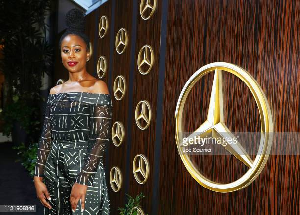 Zuri Adele attends the MercedesBenz USA Awards Viewing Party at Four Seasons Los Angeles at Beverly Hills on February 24 2019 in Los Angeles...
