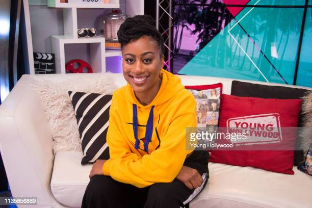 Zuri Adele visits the Young Hollywood Studio on March 14 2019 in Los Angeles California