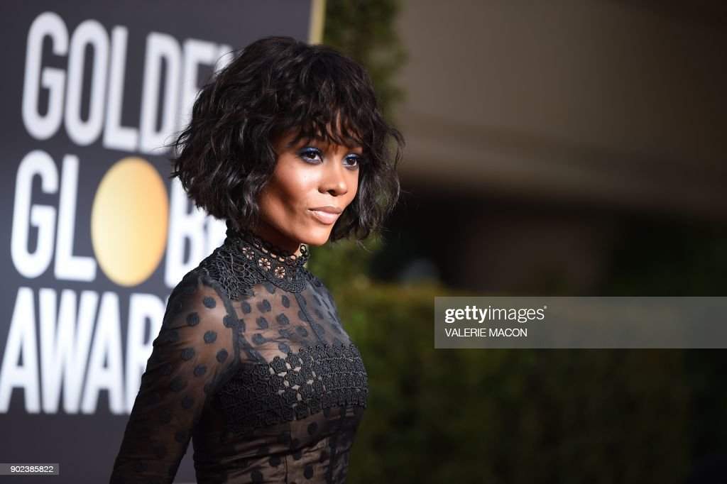 TOPSHOT - Zuri Hall arrives for the 75th Golden Globe Awards on January 7, 2018, in Beverly Hills, California. /