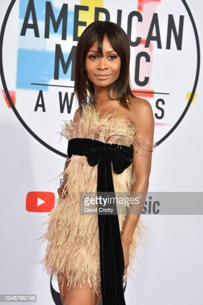 Zuri Hall attends the 2018 American Music Awards at Microsoft Theater on October 9 2018 in Los Angeles California