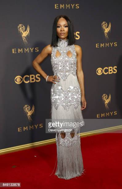 Zuri Hall attends the 69th Annual Primetime Emmy Awards Arrivals at Microsoft Theater on September 17 2017 in Los Angeles California