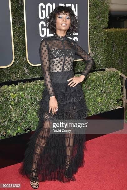 Zuri Hall attends the 75th Annual Golden Globe Awards Arrivals at The Beverly Hilton Hotel on January 7 2018 in Beverly Hills California